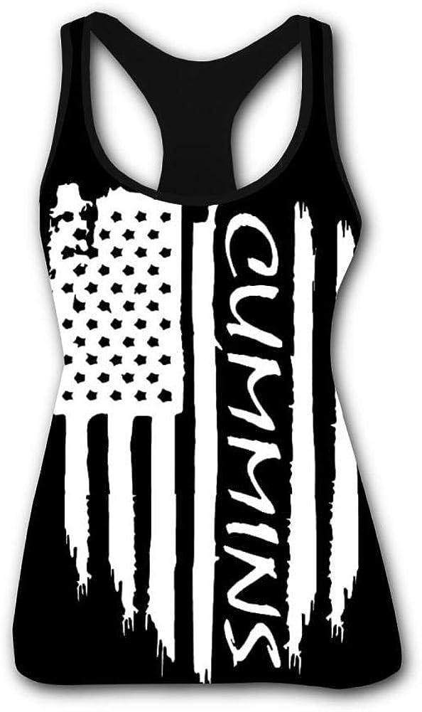 B1TS Women 3D Printed Leisure Cummins T Max 73% OFF USA OFFicial mail order Flag Shir Sleeveless