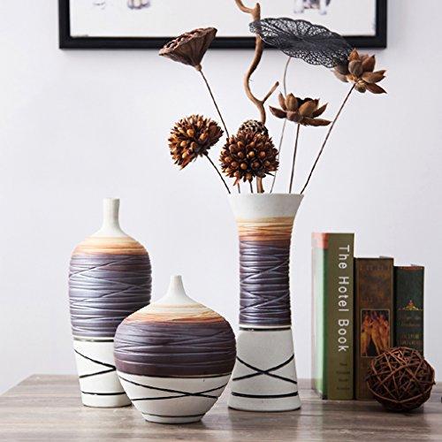 wysm Vasi in ceramica in tre pezzi arredamento soggiorno americano Tavolo Vaso artigianale decorazione domestica
