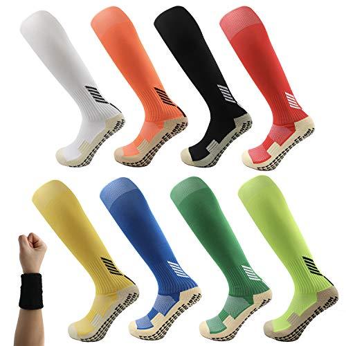 Dee Plus Kids Socks Anti Slip Boys Girls Football Socks Children Non-Slip...
