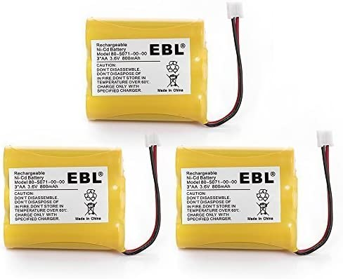 EBL 3 Packs 3.6V specialty shop 800mAh Cordless Phone Max 85% OFF Battery for Replacement 8