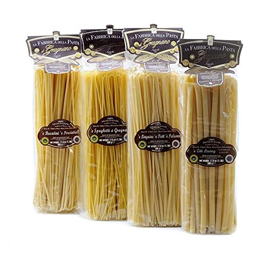 Set Pasta Lunga di Gragnano IGP - Bucatini, Linguine, Spaghetti, Ziti 500gr x 4