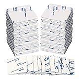 Kuou - 50 cuscinetti in schiuma super adesivi Suqare su entrambi i lati, per pareti e pavimenti, porte, in plastica