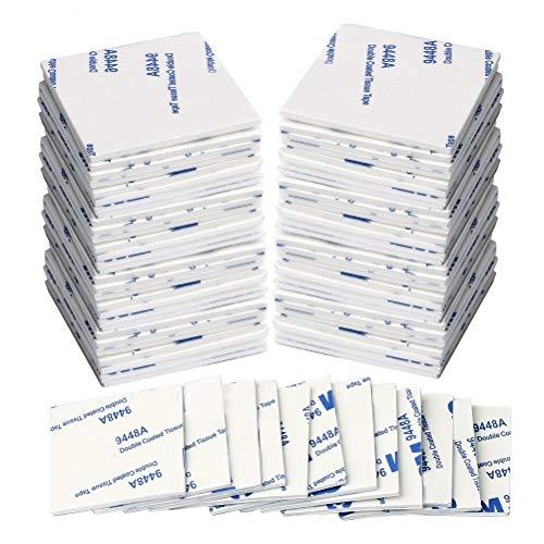 kuou Suqare Schaumstoff-Pads, selbstklebend, doppelseitig, für Wände und Boden, Tür, Kunststoff, 50 Stück