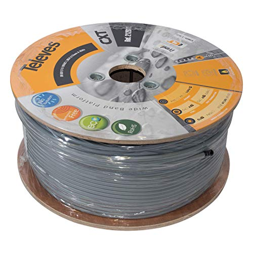 Televes - Cable coaxial cxt cobre/aluminio lsfh 250m gris