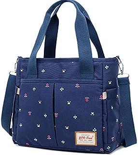 حقيبة حفاضات أطفال صغيرة مضادة للماء للنساء والرجال، حقيبة حمل حفاضات ومنظم للنساء والأولاد للعناية بالطفل للسفر، أزرق داكن