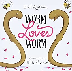 Image of the picture book Worm Loves Worm by J. J. Austrian with link to purchase through Amazon