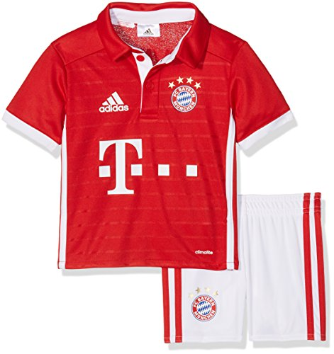 adidas Baby Trainingsanzug FC Bayern München Mini-Heimausrüstung, Fcb True Red/White, 110