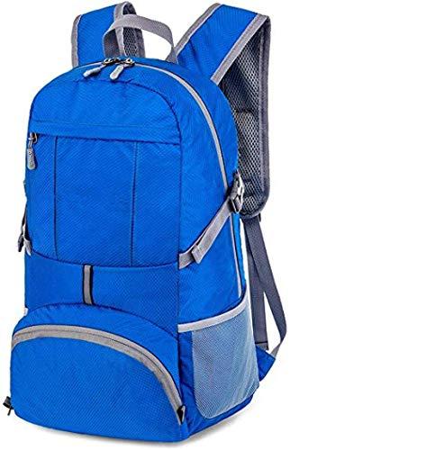 JSYTD Sac à Dos de randonnée Sac à Dos de randonnée Pliable Ultra-léger de 35 litres, Sac à Dos de Camping de Loisirs étanche, adapté aux Grimpeurs en Plein air-Bleu foncé