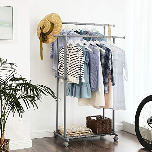 Extendable Double Clothes Rail