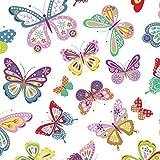 8,98€/m Schmetterling 100% Baumwolle 50x160cm