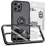 Alogy Ring Holder Armor - Funda para Apple iPhone 12/12 Pro, color negro