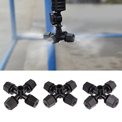 50 stks/set broeikas luchtbevochtiger Plant Misting Cross Atomizing mondstuk Sprinkler Voor Plant Bloem Koeling Systeem