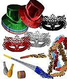 CAPRILO Lote de 6 Bolsas de Cotillones Decorativas Sombrero