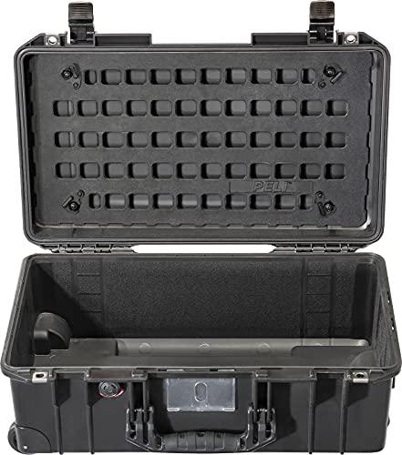 PELI Panel MOLLE con tecnología EZ-Click, Accesorio para la Maleta Peli Air 1535, Organizador de Tapa Desmontable Multiusos para acoplar Bolsillos Molle, Color: Negro