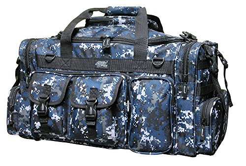 "26"" Tactical Duffle Military Molle Gear Shoulder Strap Range Bag TF126 DMBK Digital Camo Navy"