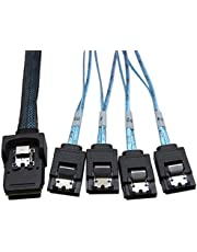 YIWENTEC Mini SAS 36P SFF-8087 a 4 SATA - Cable de datos 0,5 m