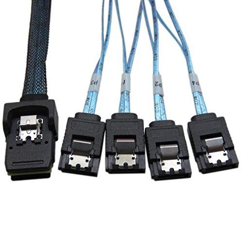 YIWENTEC mini SAS sff-8087 a 4 SATA Hard Disk target connettore cavo dati 0,5 m