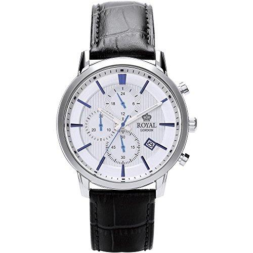 Royal London Klassischer Herren Chronograph 44 MM mit Lederband 41280-02