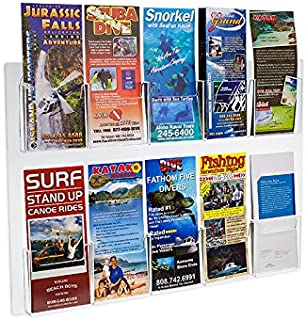 Best wall mounted tri fold brochure holder Reviews