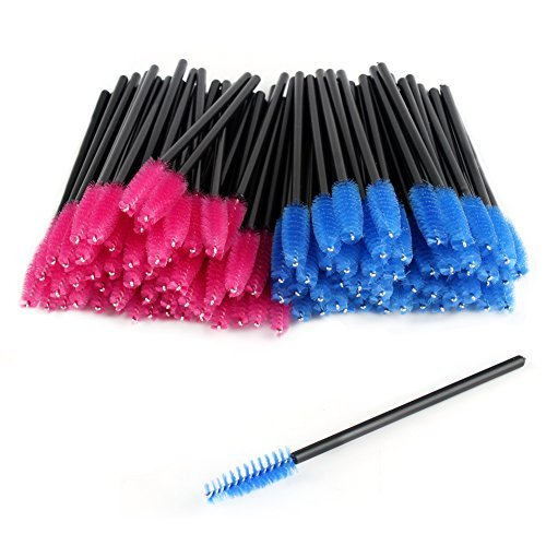 CINEEN 100Pcs Desechables Cepillos de Pestañas de Varitas Rímel Kit de rimel Cepillos Para Aplicadores cepillos mascara cepillo