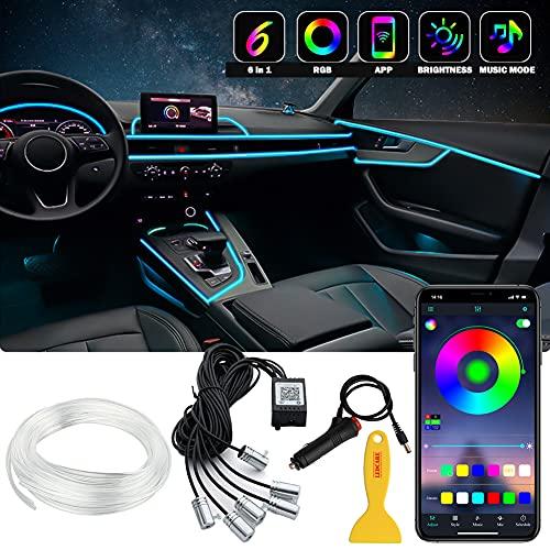 Interior Car LED Strip Lights, 6 in 1...