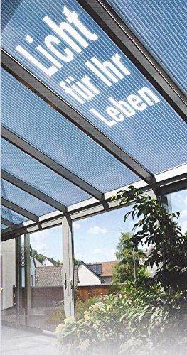 Acryl Doppelstegplatten 16 mm - glasklar - Zweifachsteg - Länge: 5000 mm - BReite: 980 mm - (Euro 39,90/qm)