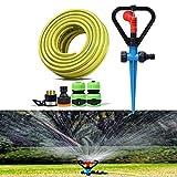 Rasensprenger Set Automatische Drehdüse Gartenbewässerung Sprinkler 4 Punkte Explosionsgeschützter Schlauch mit Steckerkombination (Größe : 5m) HLSJ (Größe : 50m)