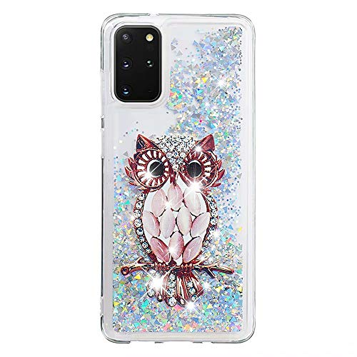 Lvnarery iPhone 11 Pro Max Case 6.5 inch Liquid Case Cute 3D Glitter Sparkle Floating Bling Quicksand Shockproof Protective Soft Silicone Case for iPhone 11 Pro Max Case 6.5 inch,Owl