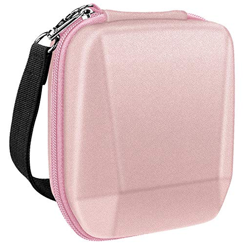 Fintie Carrying Case for Fujifilm Instax SP-3 Mobile Printer - Hard EVA Shockproof Storage Portable Travel Bag with Inner Pocket/Removable Strap - Rose Gold