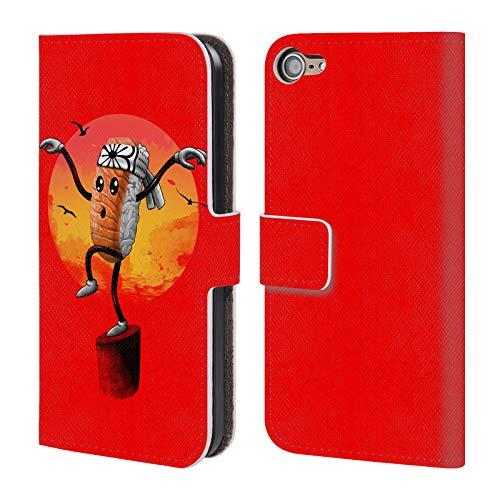 Head Case Designs Offizielle Vincent Trinidad Karate Sushi Radikalische Grafiken Leder Brieftaschen Huelle kompatibel mit Touch 6th Gen/Touch 7th Gen