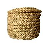 XBSXP Cuerda de Seguridad, Cuerda de cáñamo, Cuerda de Yute Natural, Cuerda Antigua de imitación para Exteriores, Longitud 50 m, Adecuada para Manualidades, paisajismo Decorativo, Tira y