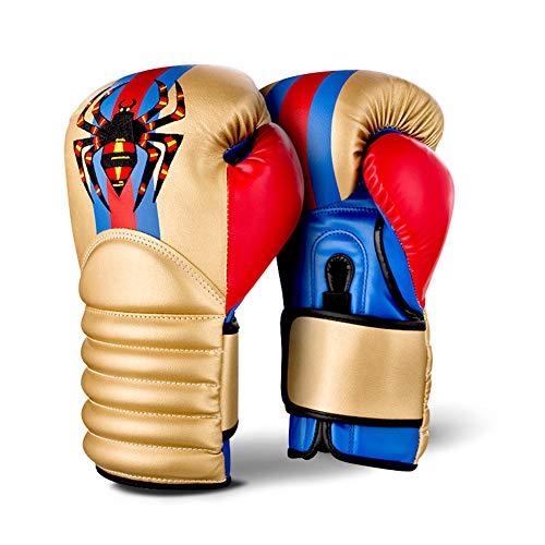 AUGYM Guanti Pugilato, 10oz / 12 oz / 14 oz Spider Modello di punzonatura Guanti di Protezione per Lo Sparring, Colpire con Un Pugno, Muay Thai & MMA Formazione,d'oro,12oz