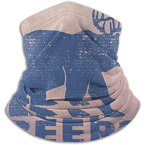 Elk Or Bear Neck Warmer Heat Sun-Proof Neck Gaiter Tube Soft Half Mask Unisexe Windproof Ski Neck Gaiter Cover For Skiing Run