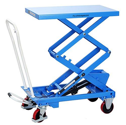 Pro-Lift-Werkzeuge Hubtisch-Wagen 350 kg Hebebühne 1500 mm Hubhöhe fahrbarer Scherenwagenheber mobiler Plattformwagen