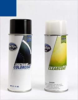 ColorRite Aerosol Automotive Touch-up Paint for Toyota Yaris - Blazing Blue Pearl 8T0 - Color+Clearcoat Package