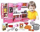ML Cocina de Juguete para niños y niñas Set Juego cocinita Infantil 3 Años Juego de Imitación Mini Kitchen