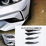 MAX CARBON 100% Carbon Canards Flaps Frontspoiler Spoiler Flaps passend für M2 F87 M3 M4 F80 F82 M140i M240i M135i M235i M5 M6 M8
