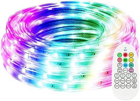 32.8ft Outdoor RGB LED Strip Rope Waterproof Color Denver Mall RF Popular product Rem Lights
