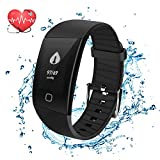 Mbuynow Fitness Tracker Watch, Smart Activity Bracelet with Dynamic Blood Pressure and Heart Rate 24 hrs Monitor, IP67 Waterproof, Body Fat, Calorie Counter, Pedometer Watch for Kids Women Men