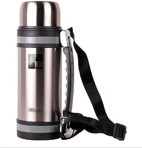 Zebuakuade Bouteille d'eau portable en Acier Inoxydable isolée sous Vide pour Les Voyages en Plein air, Acier Inoxydable, 1.8L