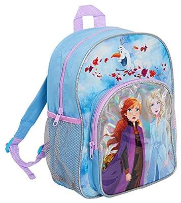 Disney® Mochila oficial Frozen 2 para niñas con Elsa & Anna Into The Unknown School Nursery Travel Mochila para almuerzo, azul (Azul) - MNCK13956 de DISNEY