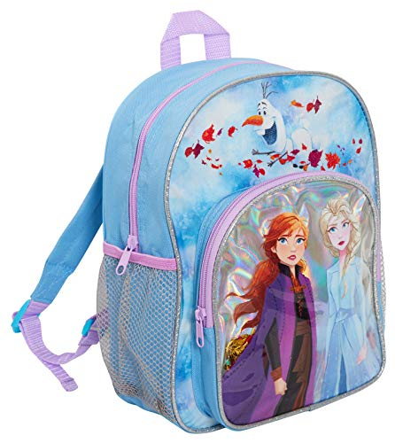 Disney® Mochila oficial Frozen 2 para niñas con Elsa & Anna Into The Unknown School Nursery Travel Mochila para almuerzo, azul (Azul) - MNCK13956