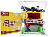[Pack of 25] Extra Large Jumbo Big Zip & Lock Freezer Food Storage Bags with Resealable Slider Closure, Big 5 Gallon Size, 18' x 24'