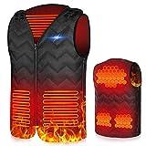 X99 Beheizte Weste, USB Einstellbare Temperatur Elektrische Beheizte,Größenverstellbar Beheizbare Weste für Herren und Damen, Heated elektrisch Vest Jacke für Outdoor Jagd