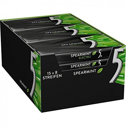 Wrigley 5 Gum Electro Spearmint Kaugummi Zuckerfrei 15 Packungen