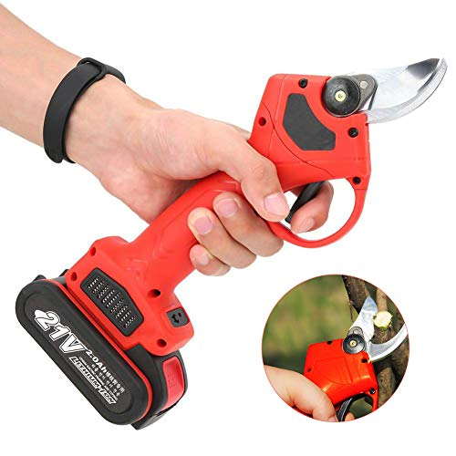 Review Yemuye Professional Cordless Electric Pruning Shears 21V Lithium Battery Rechargeable Wireles...
