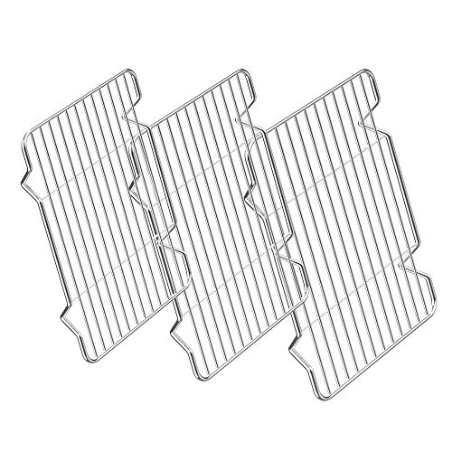 Small Cooling Racks 3 Pack, Zacfton Baking Racks 3 Pack, Stainless Steel Baking Racks for Cooking Baking Roasting Grilling Cooling, Fit Various Size Cookie Sheets Oven & Health & Dishwasher Safe