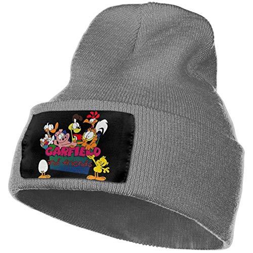 AEMAPE Adult Beanie Cap Gar-Field und Freunde Beanie Strickmütze Winter Warm Daily Knit Cuff Hats Strickmütze