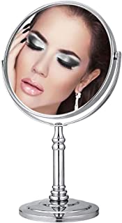 Bathroom Vanity Mirrors Vanity Mirror On Stand 1x/3x Magnification 8-Inch Mirror for Shaving, Bathroom Mirror, Dual Sided Rotating Table Top Mirror Makeup Mirror 5CD1
