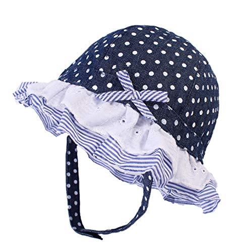Boomly Baby Mädchen Sonnenhut mit Kinnriemen Fischerhut Hut UV-Schutz Sommer Becken Kappe Welle Punkt Schirmmütze Kinder Hut Für 0-3 Jahre (Lila, 2-3 Jahre)
